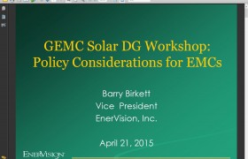 GEMC Solar DG Workshop April 21st, 2015