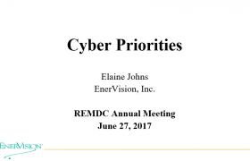 Cyber Priorities, REMDC June 2017