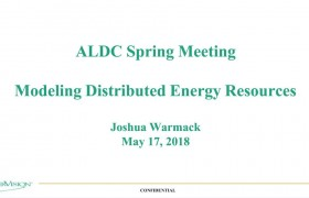 ALDC Spring Meeting 2018: Modeling Distributed Energy Resources